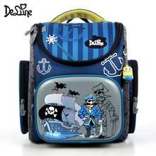 Delune brand Children Orthopedic school bag for boys girl Wa