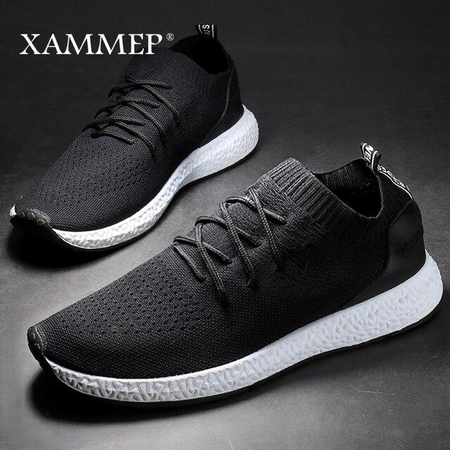 Giày Casual nam Thương Hiệu Nam Nam Sneakers Nam Đế Bằng Slip On Lưới Cho Nữ Thoáng Khí Lớn Kích Thước 45 46 Mùa Xuân mùa Thu Xammep