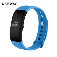 Dehwsg Новинка 2017 года монитор сердечного ритма Смарт V66 IP68 Bluetooth 4.0 вызова SMS напоминание браслет для IOS Android PK D21 DF30