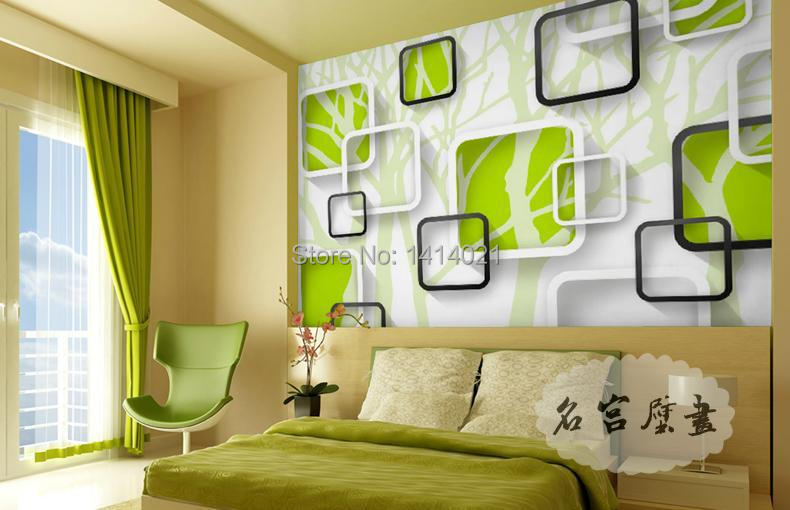 Sitting Room Kid S Tv Setting Wall Bedroom Wallpaper Photo Green Tree Papel De Parede Mural In Wallpapers From Home