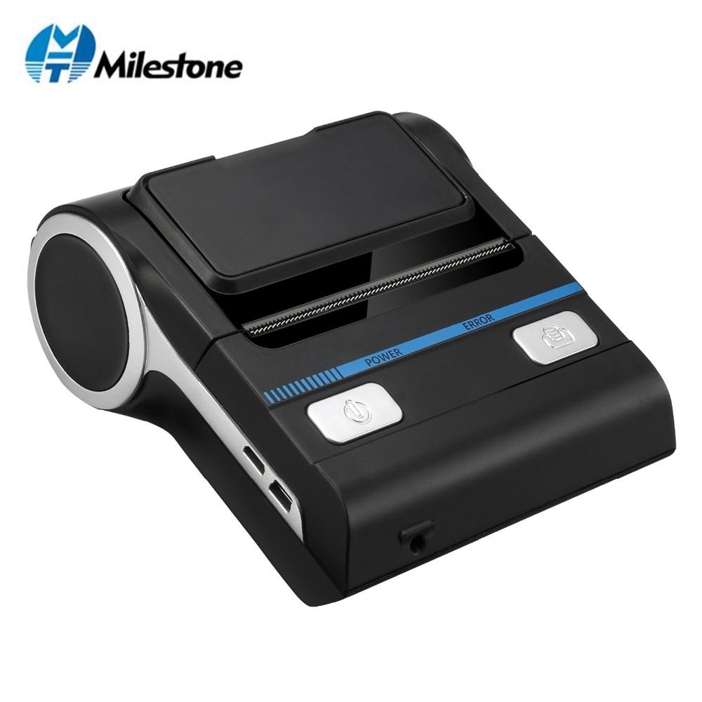 Milestone 80mm przenośne drukarki termiczne darmowa aplikacja pod warunkiem mobilna drukarka bluetooth USB MHT-P8001 do apteki drukarka pos