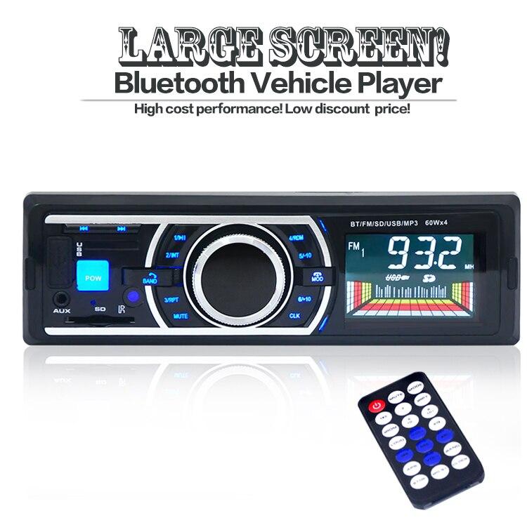 NUEVO 2017 12 V Car Stereo Radio FM Reproductor de MP3 de Audio de Apoyo Teléfon