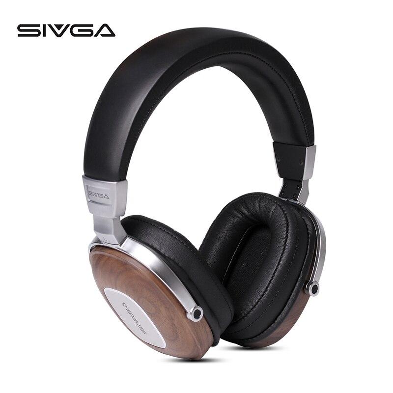 SIVGA SV006 di Legno Studio Monitor DJ Auricolare Cuffie Auricolare Con Microfono Hifi Stereo 50 millimetri Placcato Berillio Dinamico - 2