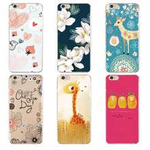 Cute Simple Luxury hand flower deer Soft Clear TPU Phone Case For iPhone 4/4s 5 5s 6 6plus 7 8plus For iPhone x Free Shipping(China)