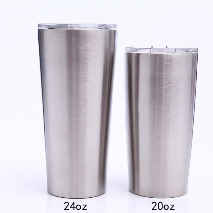 25 piezas 24oz 20oz 16oz vaso de vacío taza de café de acero inoxidable doble pared de vacío aislado tazas de cerveza vasos de vacío tazas-in Tazas from Hogar y Mascotas    1