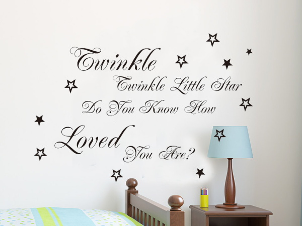 Aliexpress.com : Buy Popular Song Twinkle Twinkle Little Star Lyric Quote Wall  Stickers Home Decor Vinyl Home Decoration Wallpaper For Kids Room From ... Part 60