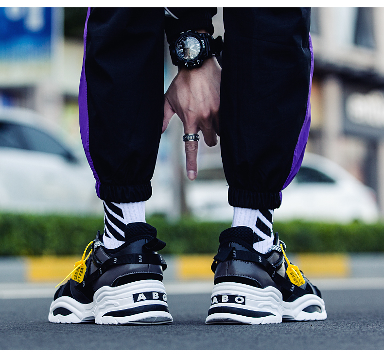 HTB1FfNEWb2pK1RjSZFsq6yNlXXaY BomKinta Stylish Designer Casual Shoes Men Yellow Sneakers Black White Walking Footwear Breathable Mesh Sneakers Men Shoes