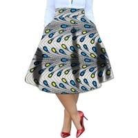 African Kente Skirt African Clothing Printed Skirts Ankara Pleated Skirt Dashiki Print Summer Streetwear Women Clothes