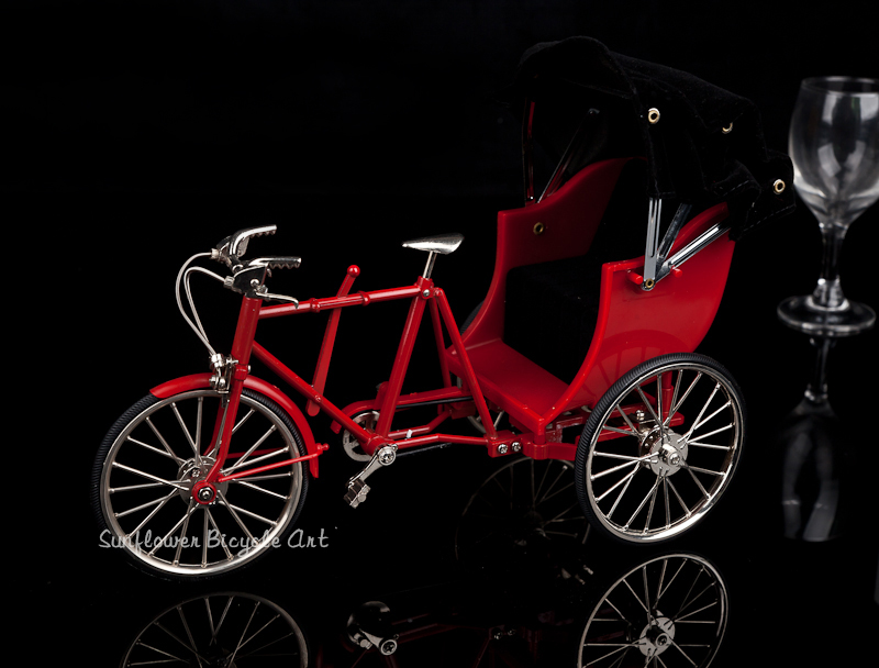diy miniature metal assembled Red metal simulation Tricycle bike model doll toys for children kids birthday Christmas gift children best gift fashion sex red color diy metal supper car assembled model toys