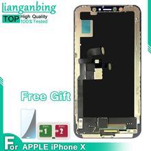 AAA + jakość LCD dla iphone X wyświetlacz LCD 100 testowany działający ekran dotykowy z zamiennik digitizera montaż dla iphone X LCD tanie tanio lianganbing Pojemnościowy ekran Nowy Apple iphone For iphone X LCD i ekran dotykowy Digitizer 1920x1080 3 LCD Touch Digitizer