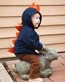 3D Dinosaur Hoodies Kids Boys Girls Sweatshirt Spring Autumn 1-6Y Long Sleeve Children Hooded Outwear Jacket free shipping