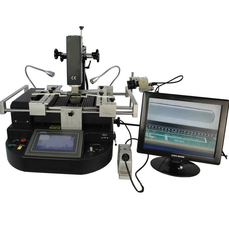 Updated LY HR560 3 zones hot air solder machine BGA Rework Station touch screen control built in lead-free solder iron