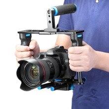 Neewer Gaiola de Liga De Alumínio Da Câmera de Vídeo do Filme do filme Que Faz o Jogo: Gaiola De Vídeo + Pega + Haste para Canon5D/700D/650 DNikon D7200 DSLR