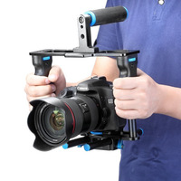 Neewer Aluminum Alloy Camera Video Cage Film Movie Making Kit:Video Cage+Handle Grip+Rod for Canon5D/700D/650DNikon D7200 DSLR