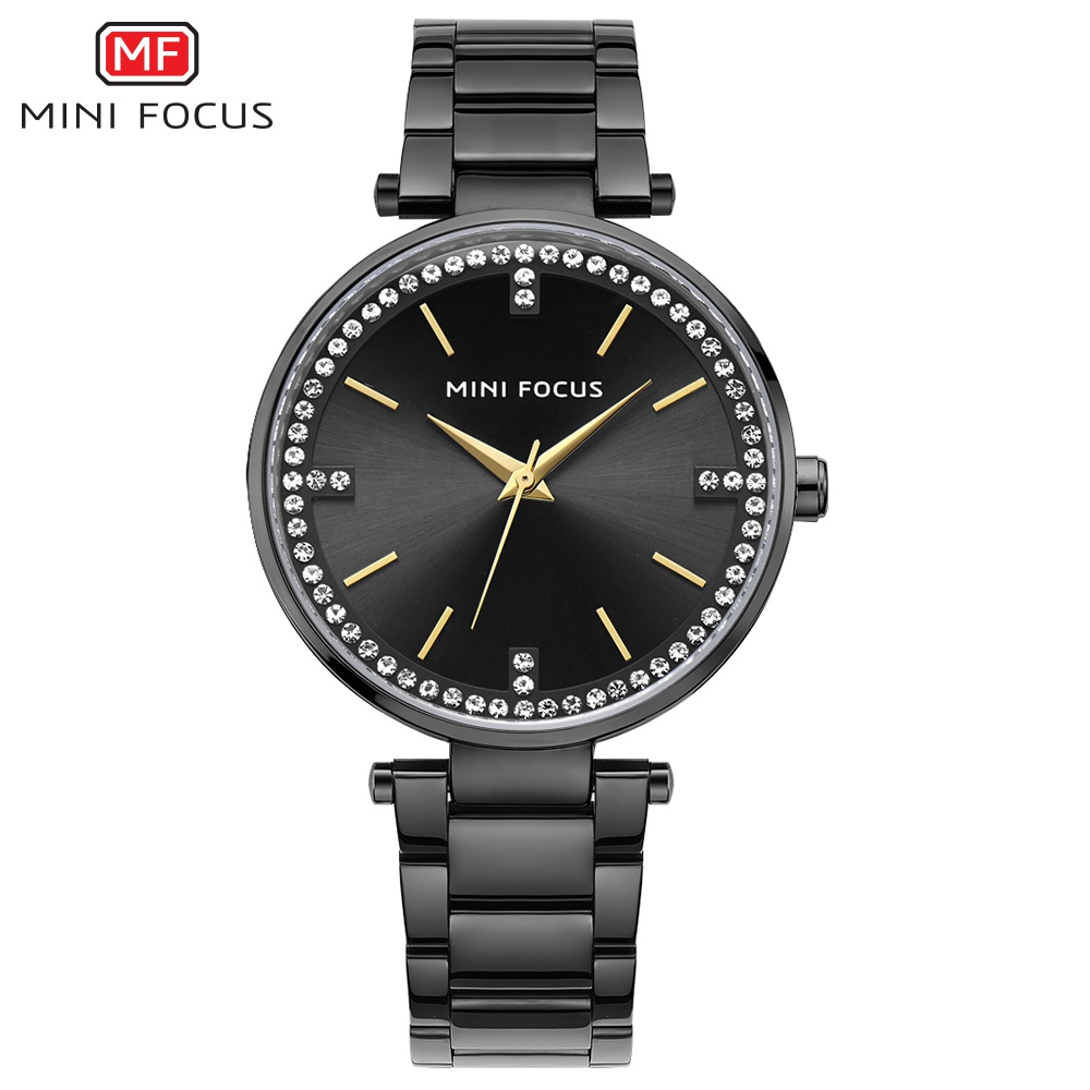 MINI FOCUS New Ladies Famous Brand Quartz Watch 2018 Top Fashion Dress Women Watches Female Clock Montre Femme Relogio Feminino 2017 new brand fashion quartz watch famous women black and white gril clock leather strap watches relogio feminino lz710