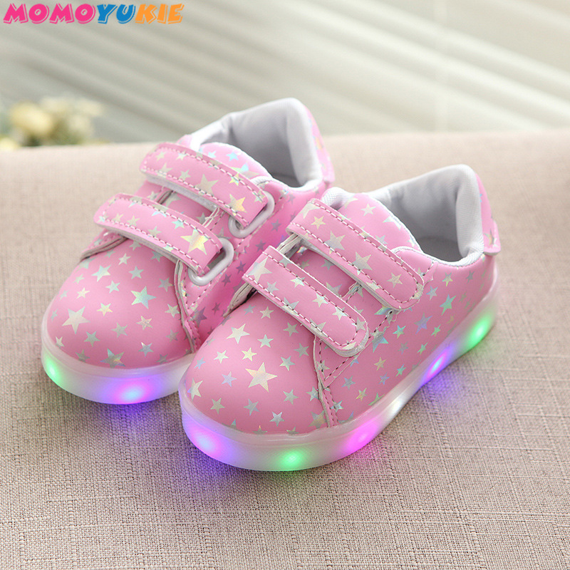Led luminous Shoes For Boys girls Fashion Light Up Casual kids 3 Colors charge new simulation sole Glowing children sneakers|Sneakers| |  - title=