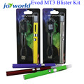 MT3 EVOD Starter Kit E-Cig kits Electronic Cigarette Blister Package with ego EVOD battery mt3 tank ecigarette starter kit 1YY