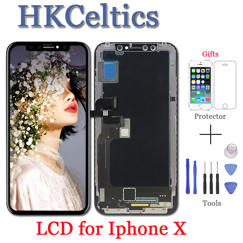 5PCS TOP Quality LCD For iPhone X LCD 1:1 Display For iPhone X Touch Screen Digitizer Assembly Replacement Parts 2018 New