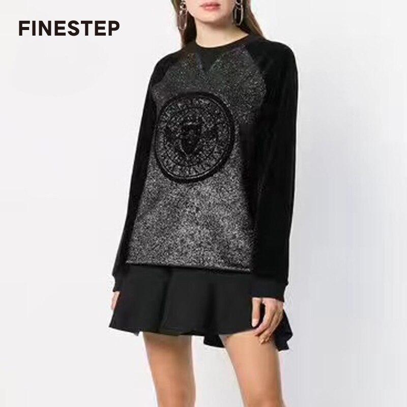 Oversize толстовки Для женщин пуловер с капюшоном 2018 осень Для женщин толстовка Повседневное с капюшоном и длинными рукавами