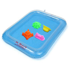 Children's Polymer Clay Playdough Sand Toy Kit Baby Kids Ability Traning Educational Play Inflatable Beach Sandbox(China)