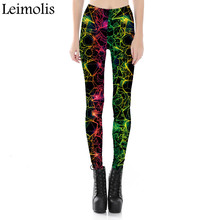 Leimolis adventure time punk rock Harajuku black milk push up fitness sexy gothic 3d print Shiny Geometric dream women leggings