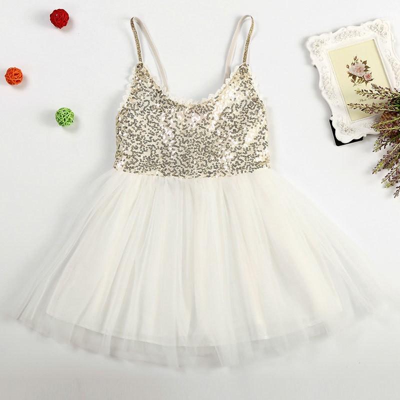 f5774ee1a Hot Girl Pink V Neck Sling Lace Sequin Gauze Tutu Dress Kids Satin ...