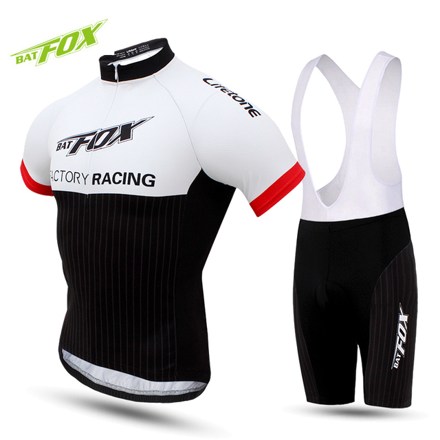 025b5d31a BATFOX 2017 Men Cycling Jersey Sets Short Sleeve Gel Cycling Clothing Kits  Male Breathable MTB Maillot
