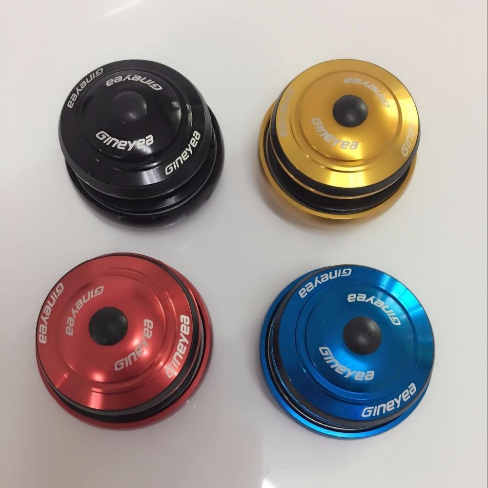 GINEYEA SUNPRO 1-1 / 8 bicicleta tubo de cabeza recta convertir 1.5 horquilla cónica auriculares de bicicleta especiales 44mm