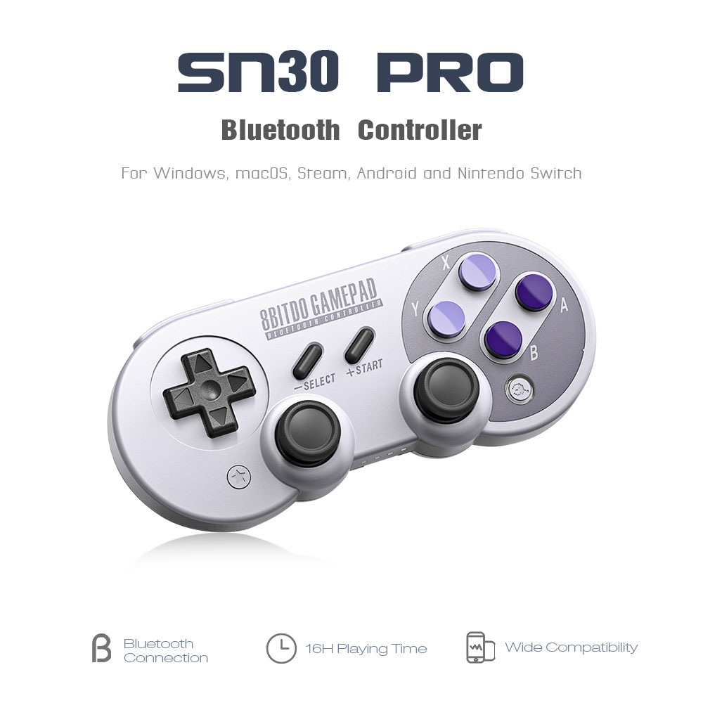 Official 8BitDo SN30 Pro Wireless Bluetooth Gamepad Controller with Joystick for Windows Android macOS Nintendo Switch Steam 14