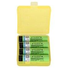 4PCS 100% Original 3.7V 3400mah 18650 Battery NCR18650B Lithium Rechargeable For Flashlight battery + 1PC Box