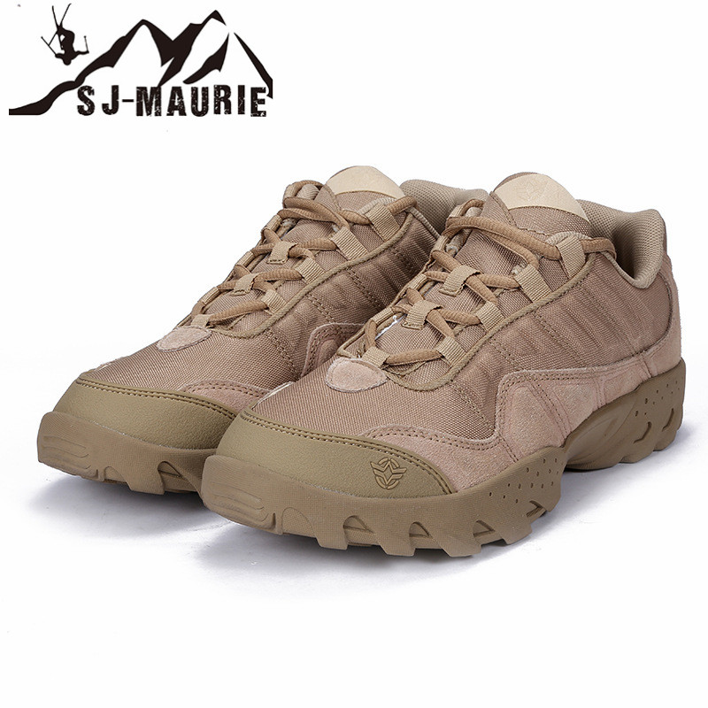 SJ MAURIE Outdoor Men Hiking Shoes Waterproof Tactical Combat Army Boots Desert Training Sneakers Anti Slip