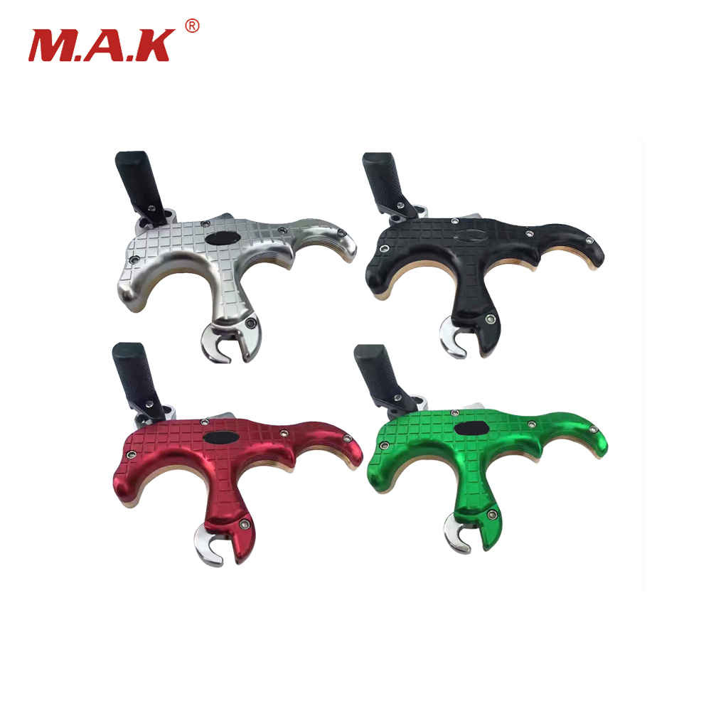 4 Color Three fingers Stainless Steel Archery Caliper Release for Compound Bow Accessory Archery Hunting Shooting