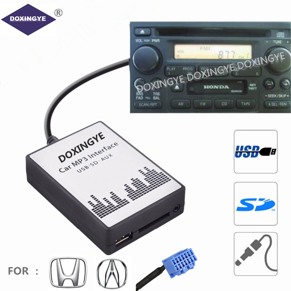 DOXINGYE USB AUX SD Car Digital CD Changer Adapter Music Car MP3 Player 7 7 PIN