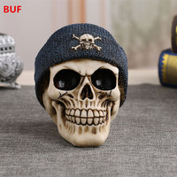 Free Shipping Resin Skull Statue Modern Home Decoration Ornaments