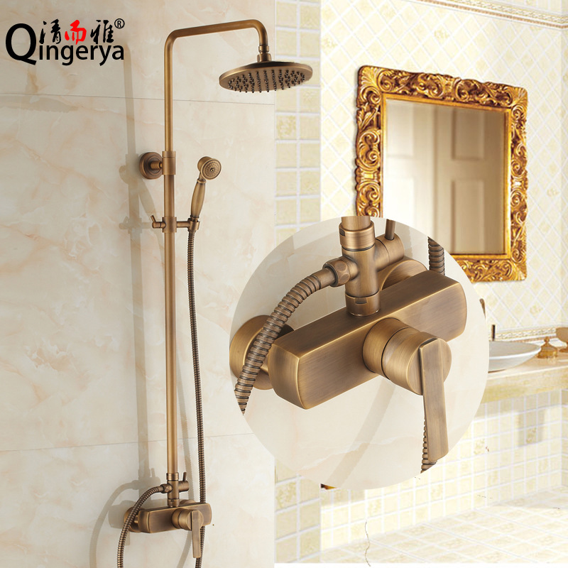 Supply of high-quality all-copper shower suite antique lift Quartet hot and cold shower wholesale 8836 models