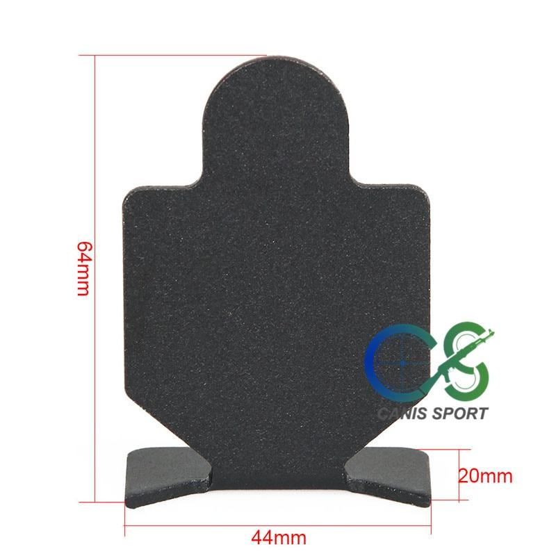 Tactical Black Shooting Target (6pcs) 64x44x20mm for Hunting Shooting Use gs33-0180B