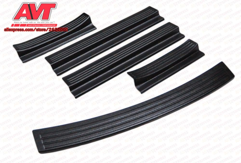 Door sills and pad on rear bumper for Hyundai Solaris / Accent 2017- plastic ABS car decoration styling accessories protect