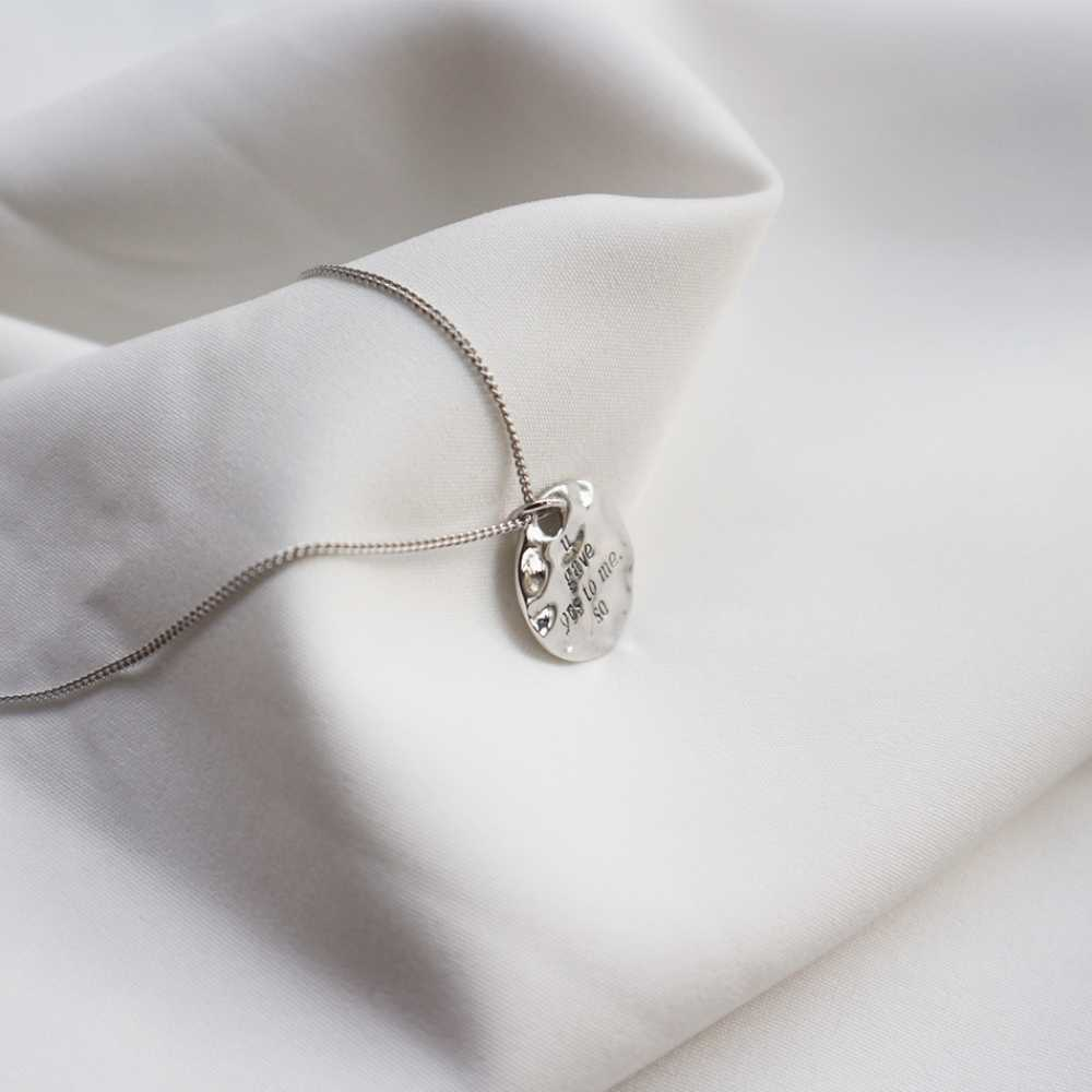 """925 Sterling Silber Münze Anhänger Herz Form auf Zurück Anfänglichen """"Sie Gab Ihnen Zu Mir"""" Hochzeit Versprechen Halskette jahrestag Geschenk"""