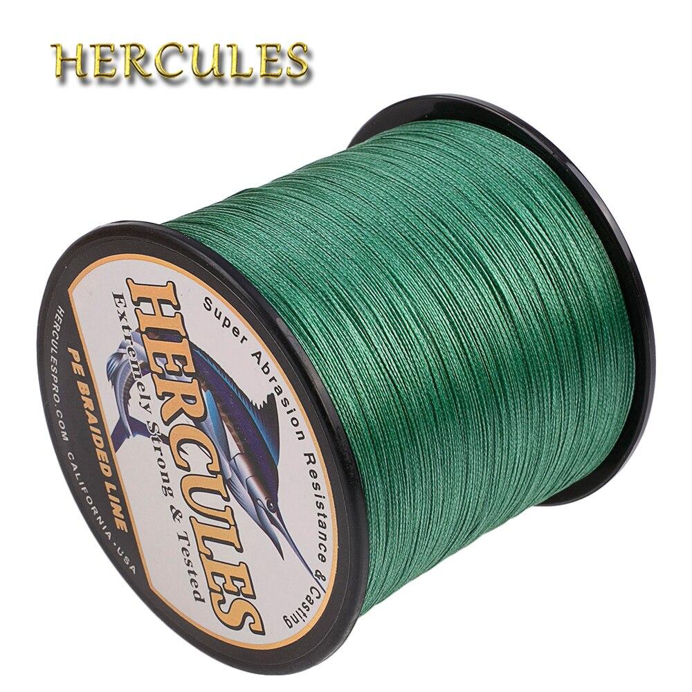 hercules 10 300lb verde pe trancado de linha de pesca linha de 100 m 300 m