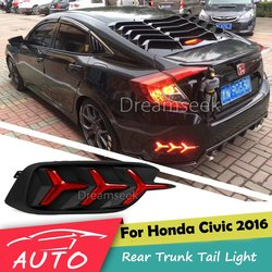 Nakładka na tylny zderzak światło do hondy Civic 2016 2017 czerwony reflektor led światło hamowania Parking ostrzeżenie jazda nocą lampa przeciwmgielna w Zest. mont. świateł samochodowych od Samochody i motocykle na