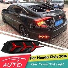 Paraurti posteriore Fanale posteriore Per Honda Civic 2016 2017 Rosso HA CONDOTTO il Riflettore Della Lampada del Freno di Parcheggio Avvertimento di Notte Guida La Lampada Della Nebbia