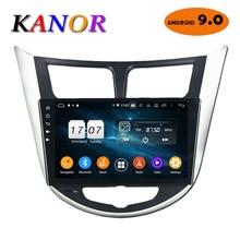 KANOR 4 + 32G 2 din android 9.0 car dvd gps sistema di navigazione per hyundai solaris accent verna 2011 2013 2014 2015