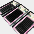 Fashion Makeup Tool Individual Silk Volume Lashes Eyelash Extensions Semi-permanent 0.15mm C Curl High Quality