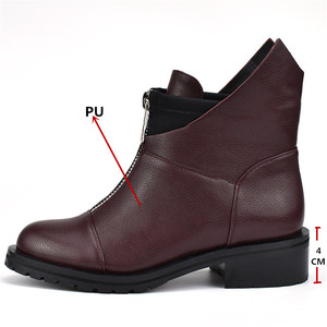 Image 3 - FEDONAS Fashion New Women Ankle Boots Thick High Heels Warm Short Ladies Shoes Ladies Autumn Winter Motorcycle Boots Shoes Woman