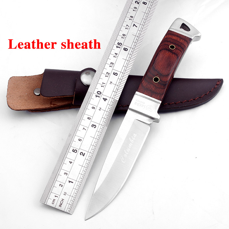 SR K90 Fixed Blade Hunting font b knife b font wood handle camping survival font b