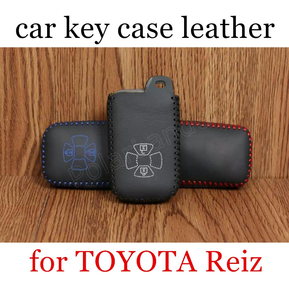 Only Red factory price sale Car key Case cover Hand sewing DIY car styling Genuine leather fit for TOYOTA Reiz