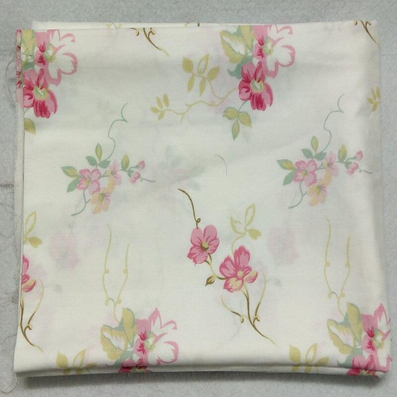 Zbrusu nová růže květiny potištěné bavlněné tkaniny 50x160cm pro prošívání povlečení tkaniny DIY šití