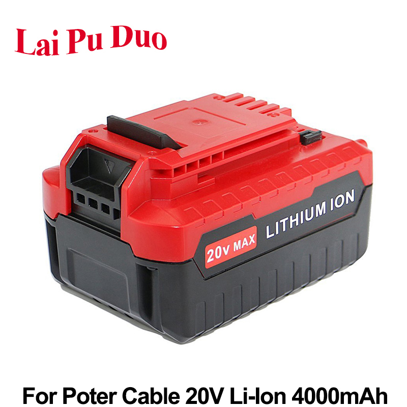 Replacement Power Tool Battery 20V 4000mAh Li Ion For PORTER CABLE PCC685L