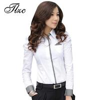 2013 Summer Size S 2XL Long Sleeve Lady Style Office Cool Shirt Korean Fashion Uniform Women