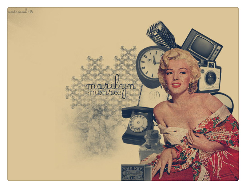 Modern Marilyn Monroe Black And White Wall Art Embellishment - Wall ...